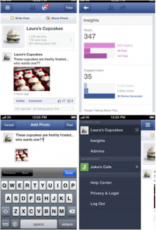Facebook Page Manager Screen-shots
